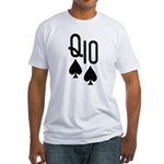 Qs10s Poker Fitted T-Shirt