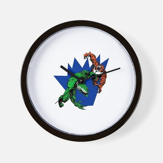 Lizard & Tiger Wall Clock