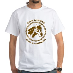 Ride A Gambian White T-Shirt