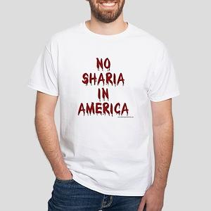 No Sharia: White T-Shirt