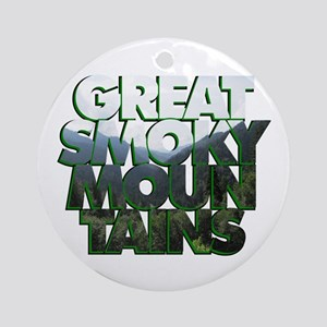 Great Smoky Mountains Ornament (Round)