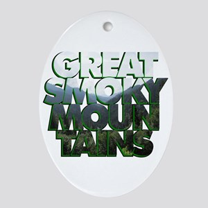 Great Smoky Mountains Ornament (Oval)