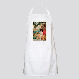 Vintage 1910 Antibes Italy Travel Apron