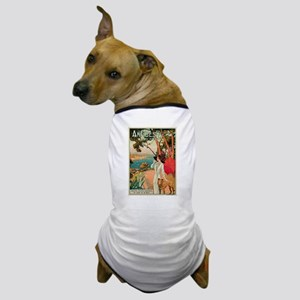 Vintage 1910 Antibes Italy Travel Dog T-Shirt