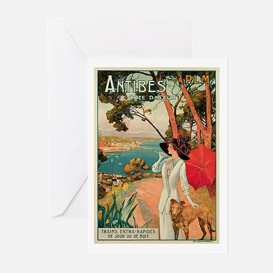 Vintage 1910 Antibes Italy Travel Greeting Cards (