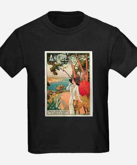 Vintage 1910 Antibes Italy Travel T