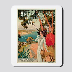 Vintage 1910 Antibes Italy Travel Mousepad