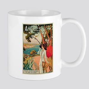 Vintage 1910 Antibes Italy Travel Mug