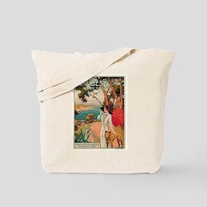 Vintage 1910 Antibes Italy Travel Tote Bag