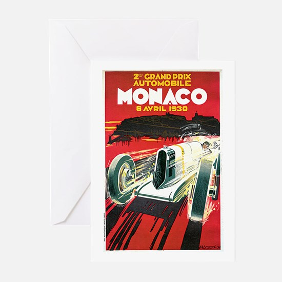 Vintage 1930 Monaco Auto Race Greeting Cards (Pk o