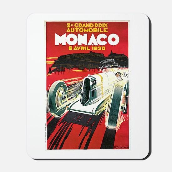 Vintage 1930 Monaco Auto Race Mousepad