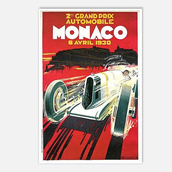 Vintage 1930 Monaco Auto Race Postcards (Package o