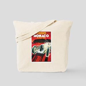 Vintage 1930 Monaco Auto Race Tote Bag
