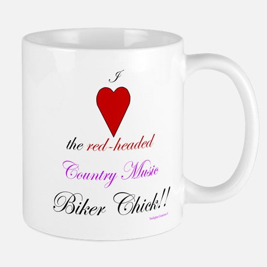 Heart The Biker Chick Mug