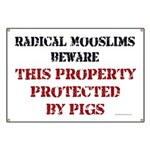 Radical Mooslims Beware: Banner