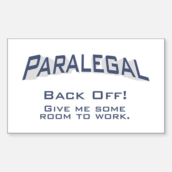 Paralegal / Back Off Sticker (Rectangle)