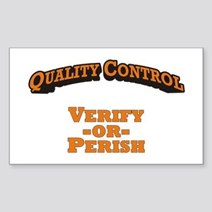 Quality Control / Verify Sticker (Rectangle)