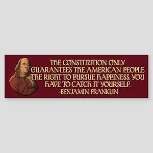 Franklin on Constitutional Gu Sticker (Bumper)