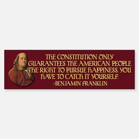 Franklin on Constitutional Gu Sticker (Bumper)