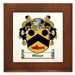 Oliver Coat of Arms Framed Tile