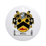 Oliver Coat of Arms Ornament (Round)