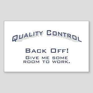 Quality Control / Work Sticker (Rectangle)