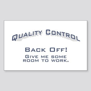 Quality Control / Work Sticker (Rectangle)