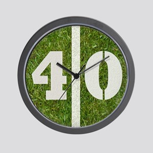 40 Yard Wall Clock