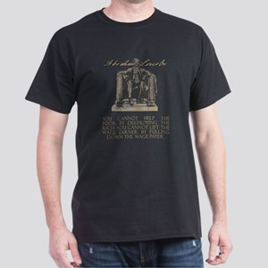Lincoln on Rich and Poor Dark T-Shirt
