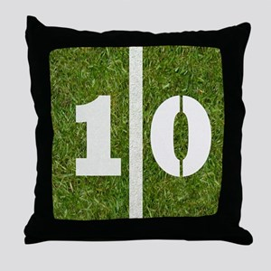 10 Yard Football Throw Pillow