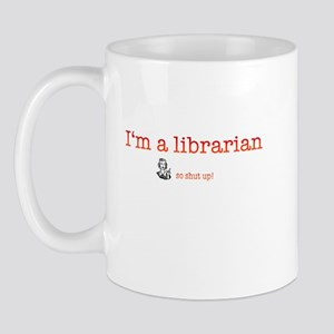 Librarian Shut Up Pick Up Line Mug