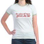 The Voices Tell Me - Red Jr. Ringer T-Shirt