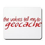 The Voices Tell Me - Red Mousepad