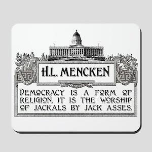 HL Mencken on Democracy Mousepad