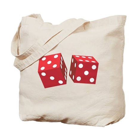 Retro Red Dice Tote Bag