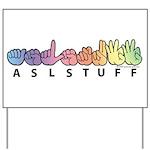 ASLstuff Logo Yard Sign