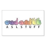 ASLstuff Logo Sticker (Rectangle 50 pk)
