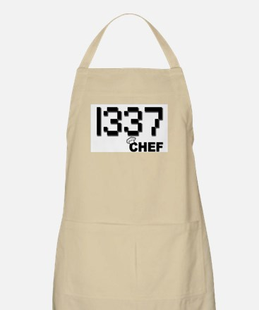 1337 Chef Food Geek Barbeque BBQ Apron