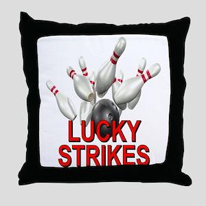 Lucky Strikes Throw Pillow