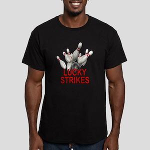Lucky Strikes Men's Fitted T-Shirt (dark)