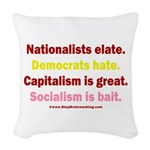 Elate vs Hate Woven Throw Pillow