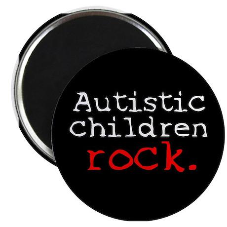 Autistic Children Rock Magnet