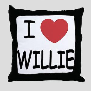 I heart Willie Throw Pillow