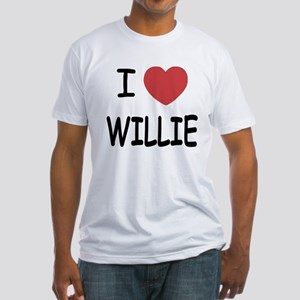 I heart Willie Fitted T-Shirt