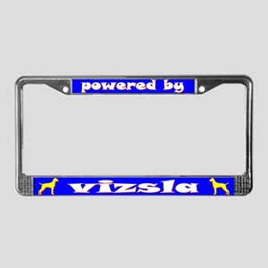 Powered by Vizsla License Plate Frame