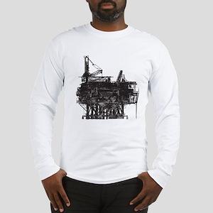 Vintage Oil Rig Long Sleeve T-Shirt