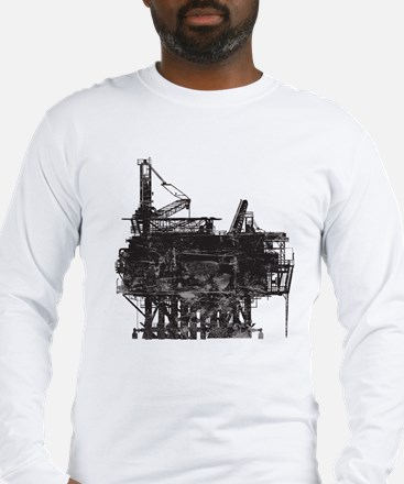 Vintage Oil Rig Long Sleeve T-Shirt