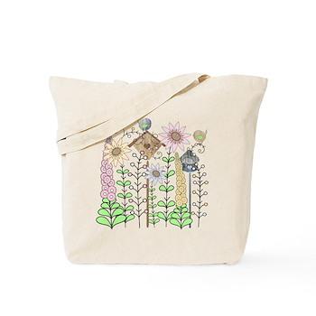 Folk Art Cottage Garden Tote Bag