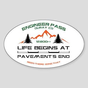 Engineer Pass Sticker (Oval)