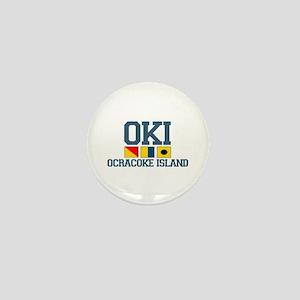 Ocracoke Island - Nautical Flags Design Mini Butto